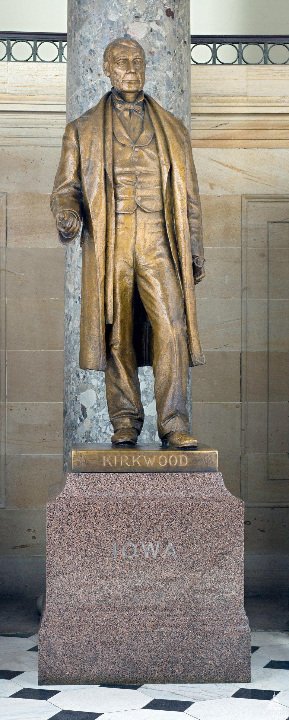 Samuel Jordan Kirkwood Statue