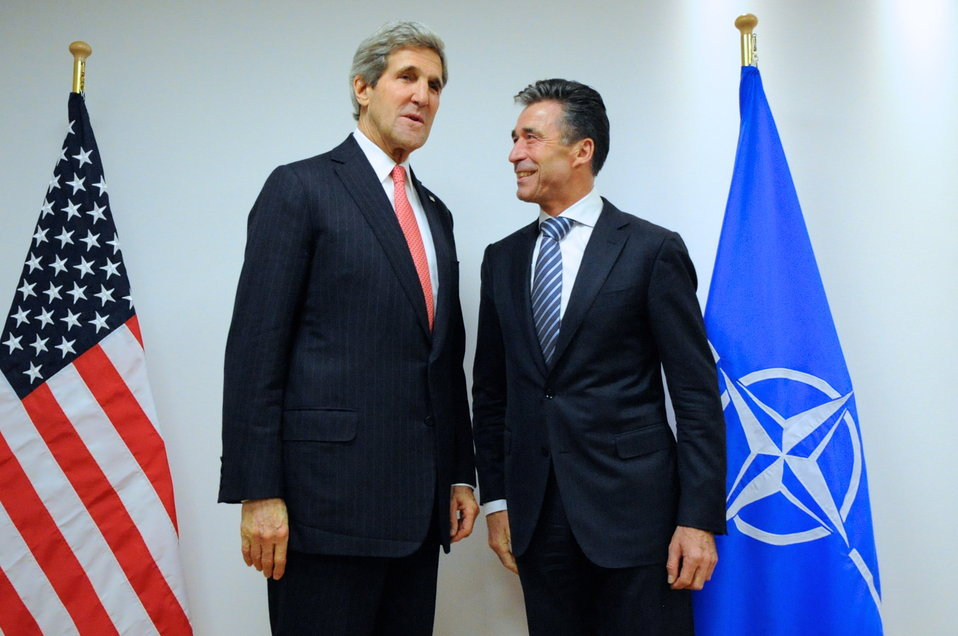 Secretary Kerry Meets with Secretary General Rasmussen