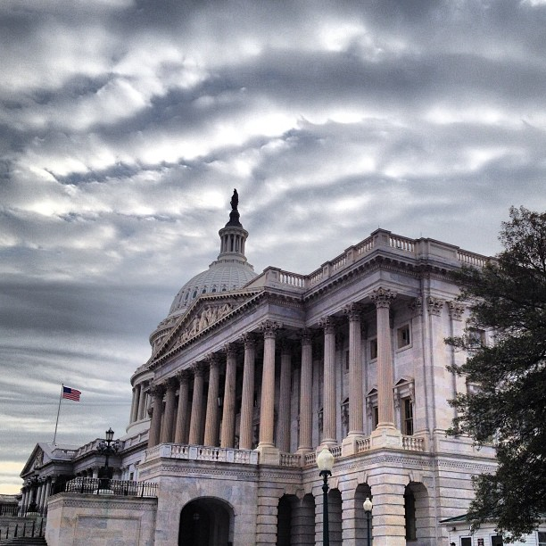 Clouds moving in on Capitol March 2013