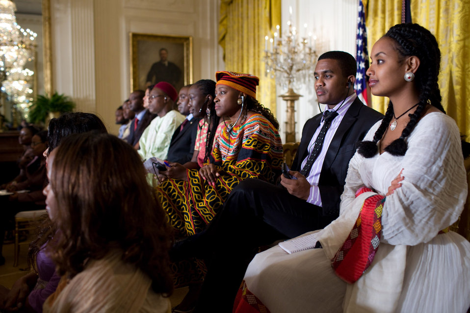 President Obama Hosts a Town Hall in the East Room of the White House