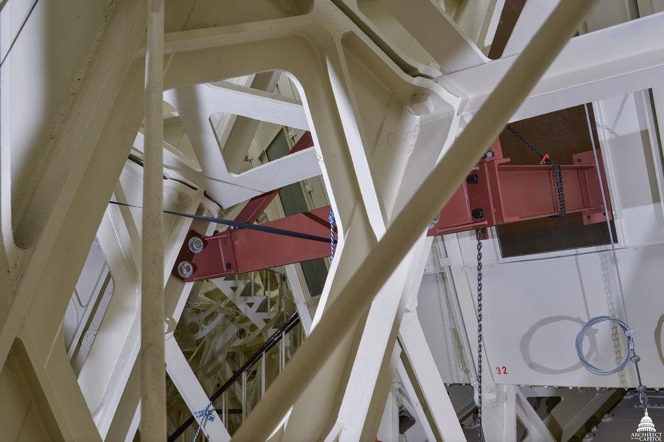 Captiol Dome Restoration - Captiol Dome Restoration - Interstitial Preparations for Rotunda Canopy