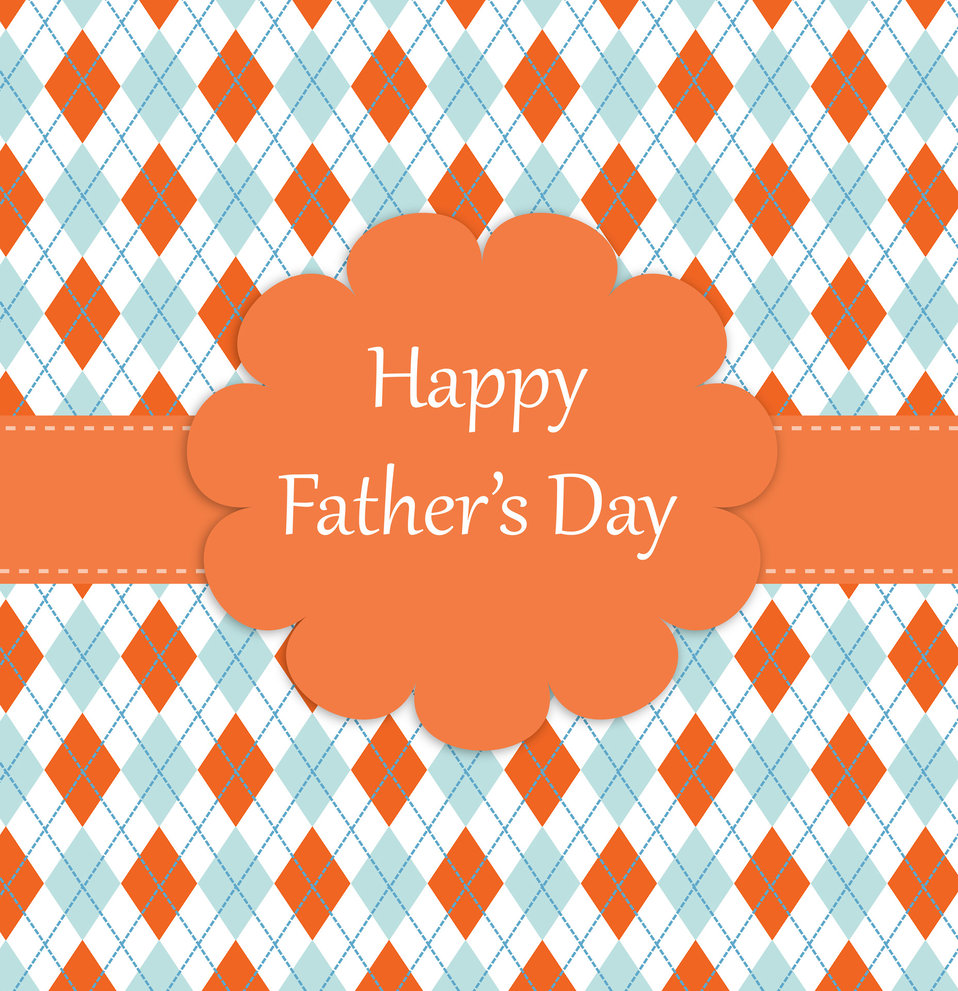 Father's day argyle pattern card
