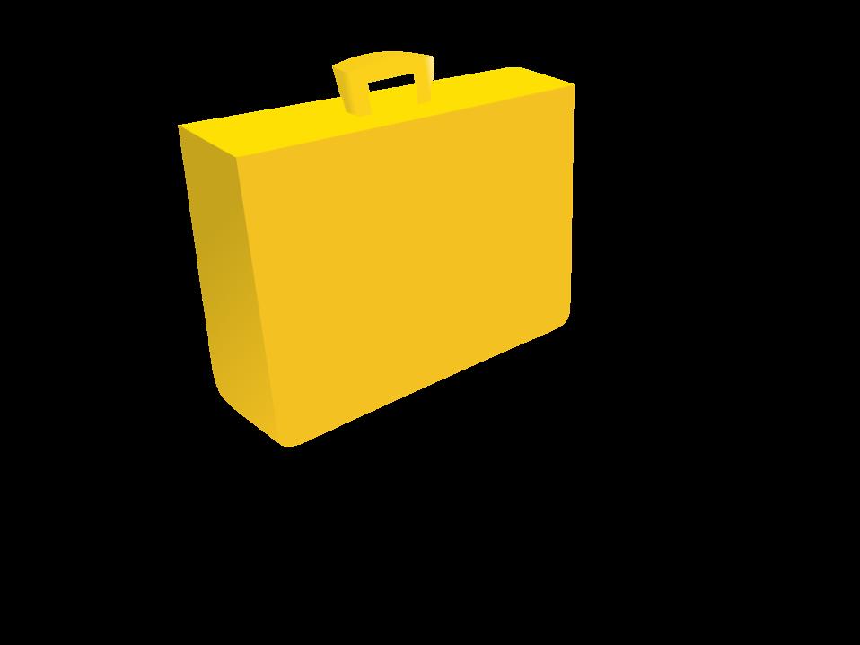 orange briefcase