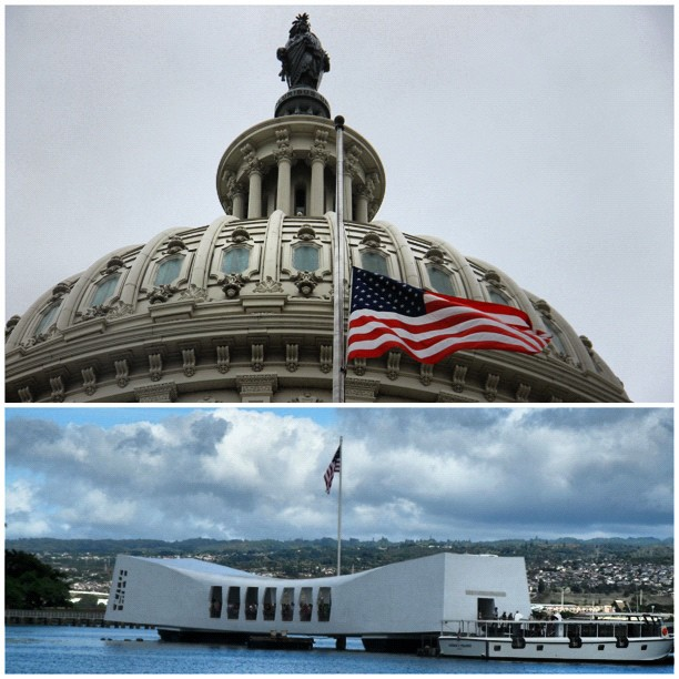 From Capitol to Hawaii remembering those lost 71 years ago at Pearl Harbor.