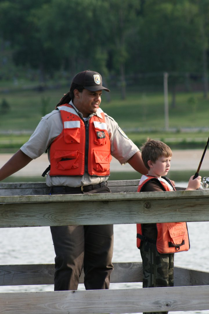 PR Johnson assists a future volunteer