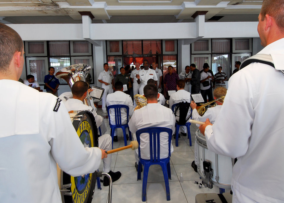 The U.S. Pacific Fleet Band Plays