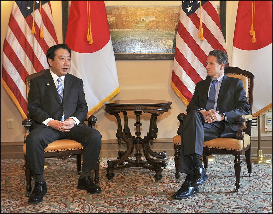 Meeting with Japanese Finance Minister Noda