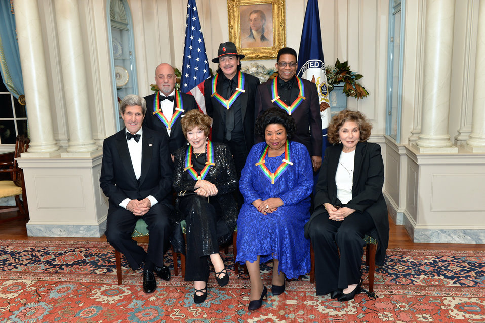 Secretary Kerry and Mrs. Heinz Kerry Meet With the Kennedy Center Honor Award Recipients