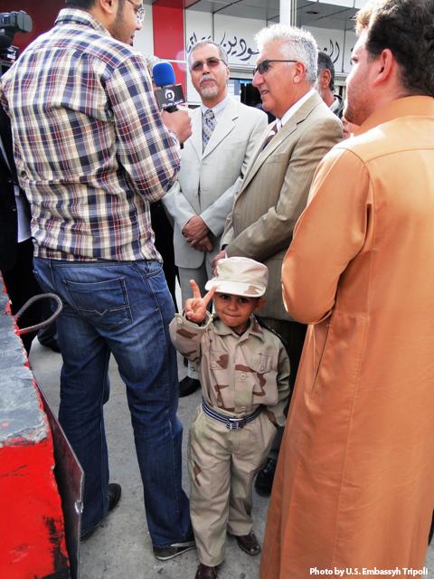 Miurata Television Reporters Ask Ambassador Cretz About His Visit