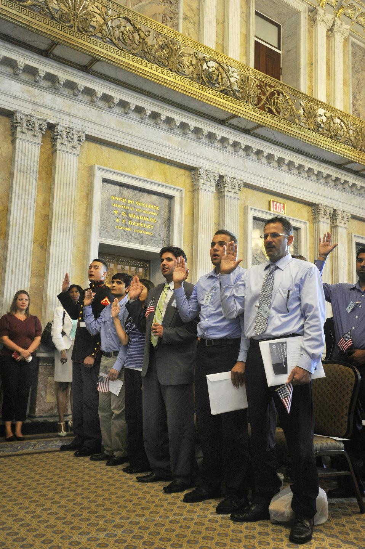 Naturalization Ceremony at Treasury