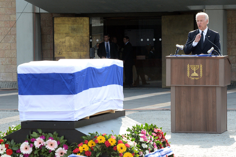 Vice President Biden Delivers Remarks at the State Funeral of Former Israeli Prime Minister Sharon