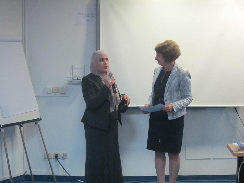 Professor Souad Rouis Speaks With Special Representative Hariton