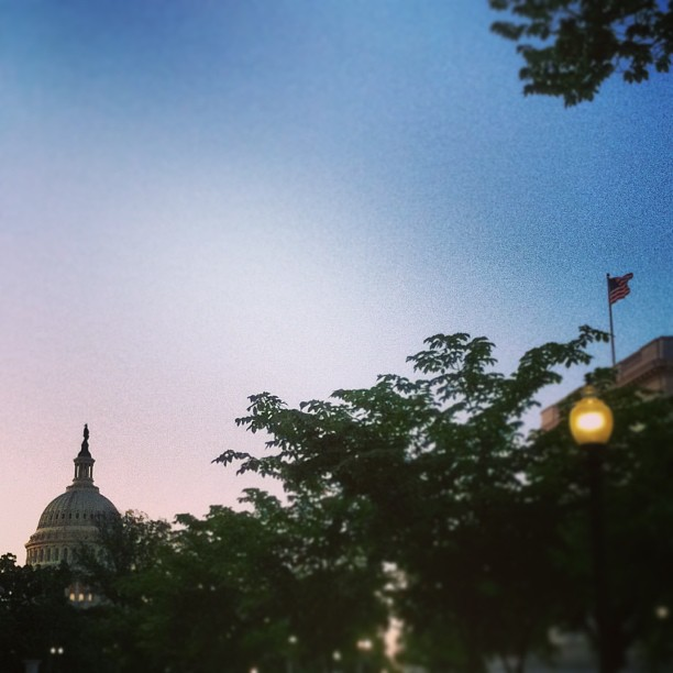 Dusk settles on the Capitol. #dc