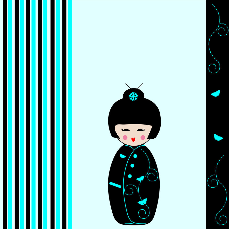 Kokeshi doll card