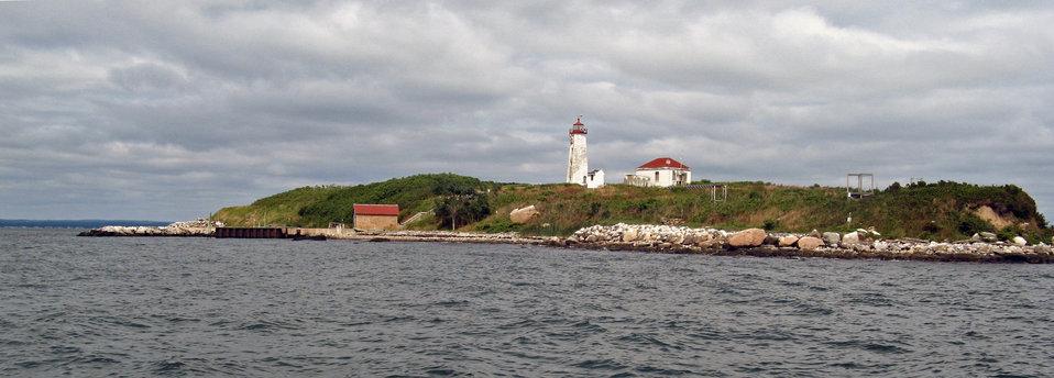 Falkner Island research station lighthouse