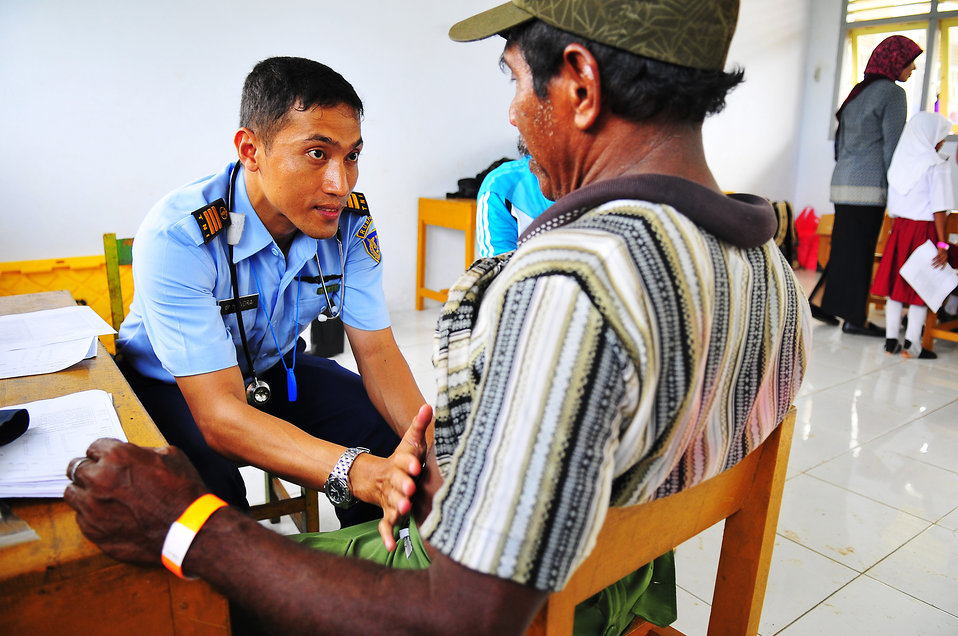 Dr. Hendra Samanta Examines a Local Indonesian Man
