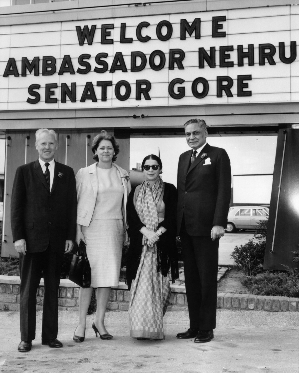 Visits from Ambassador Nehru of India and Senator Gore