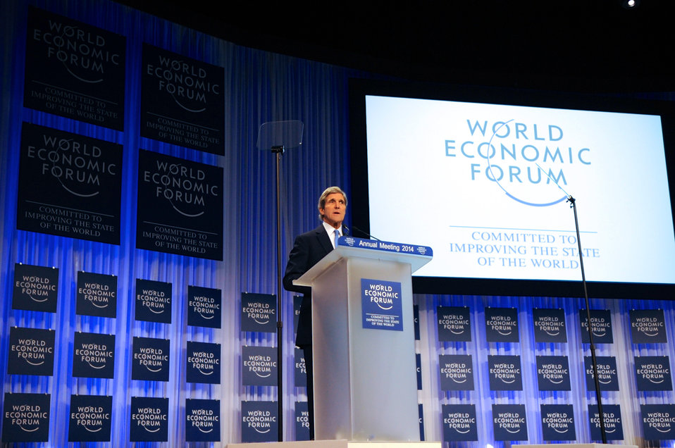 Secretary Kerry Speaks About U.S. Engagement Abroad at World Economic Forum