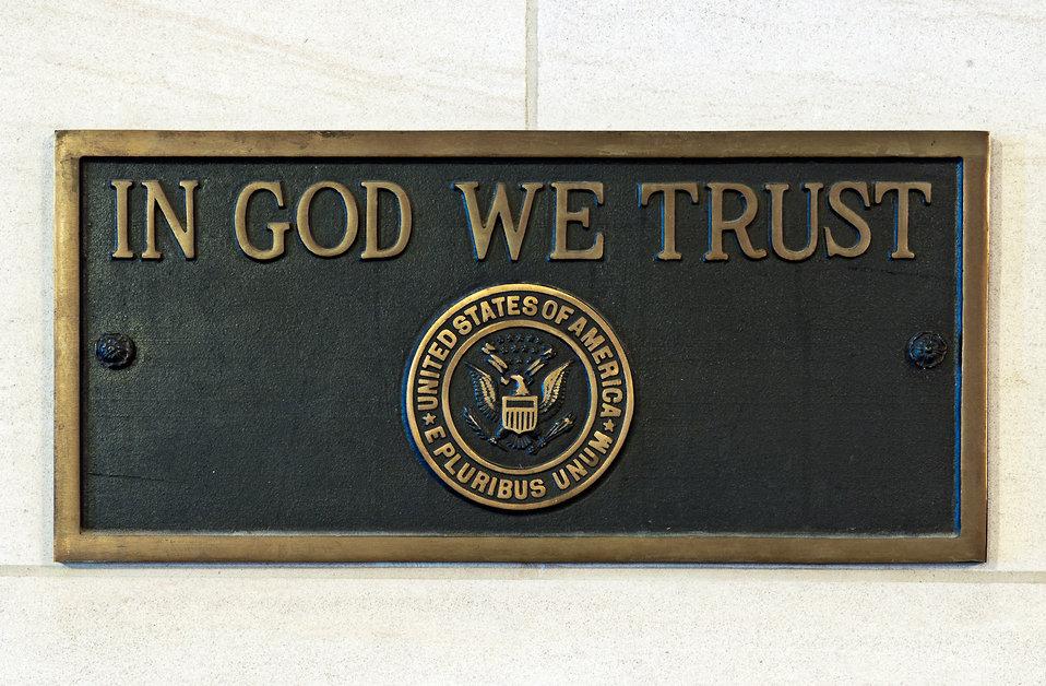 'In God We Trust' Plaque
