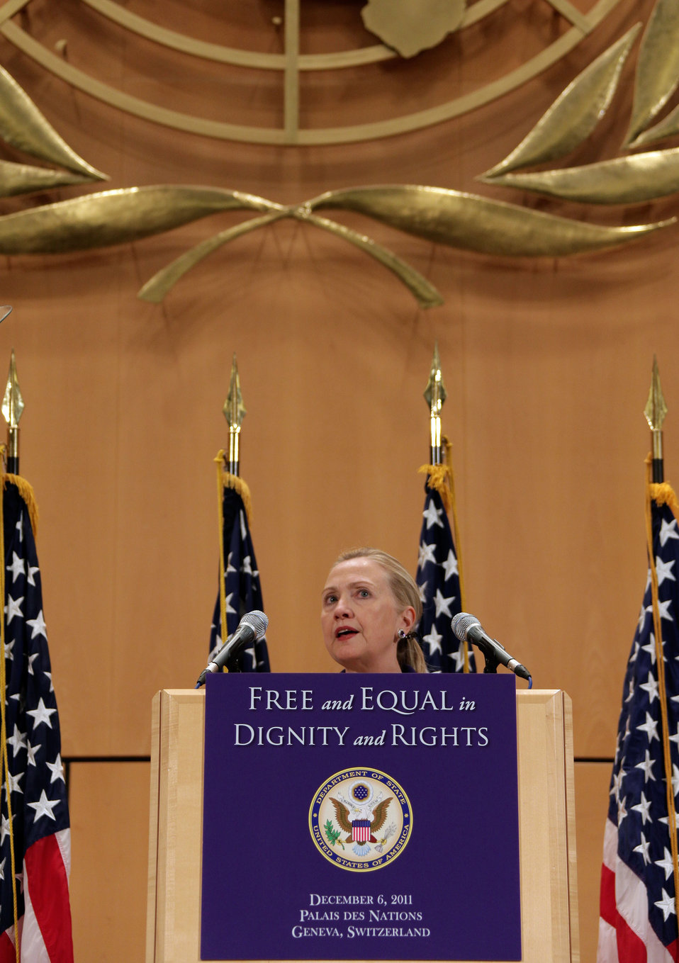 Secretary Clinton Delivers Remarks in Honor of International Human Rights Day