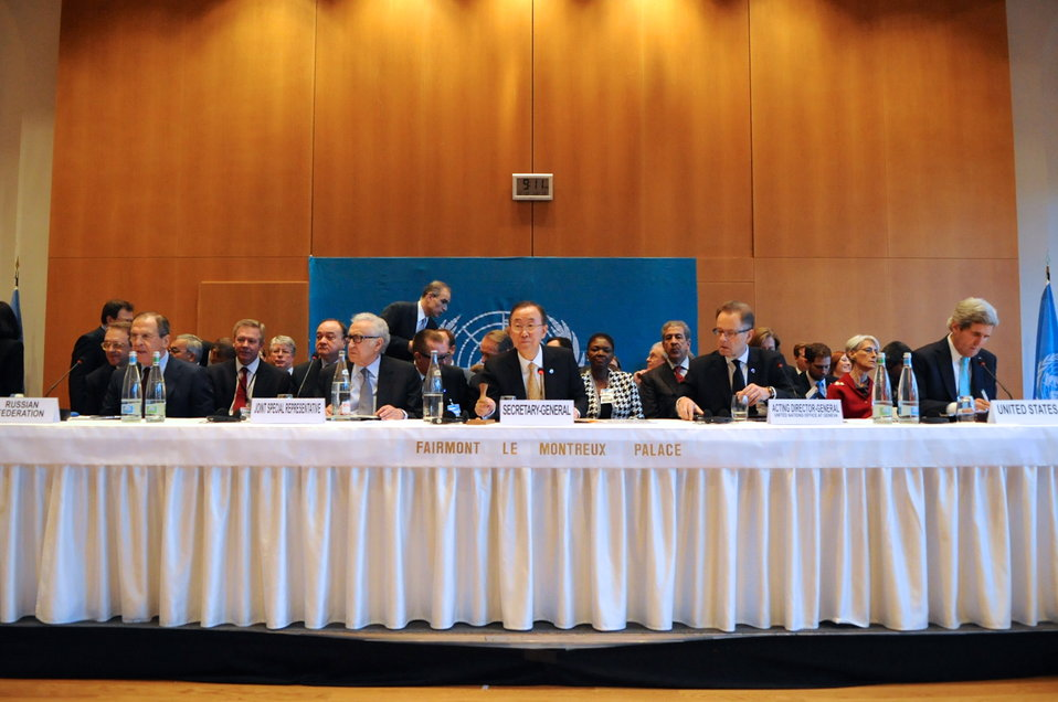 Secretary-General Ban Gavels Geneva II Conference to Order