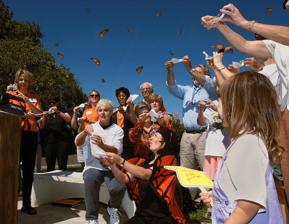 Butterfly release at AMSE Oak Ridge