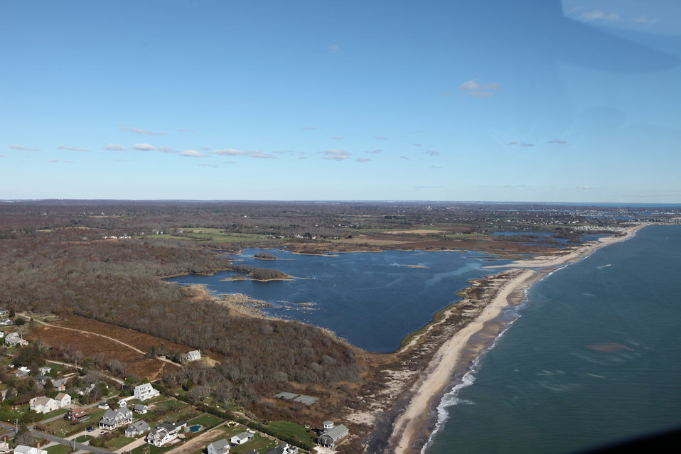 Aerial view of Trustom Pond National Wildlife Refuge (RI)