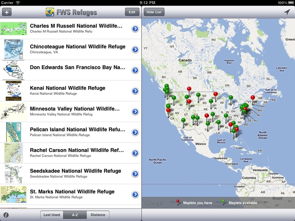 National Wildlife Refuge System map