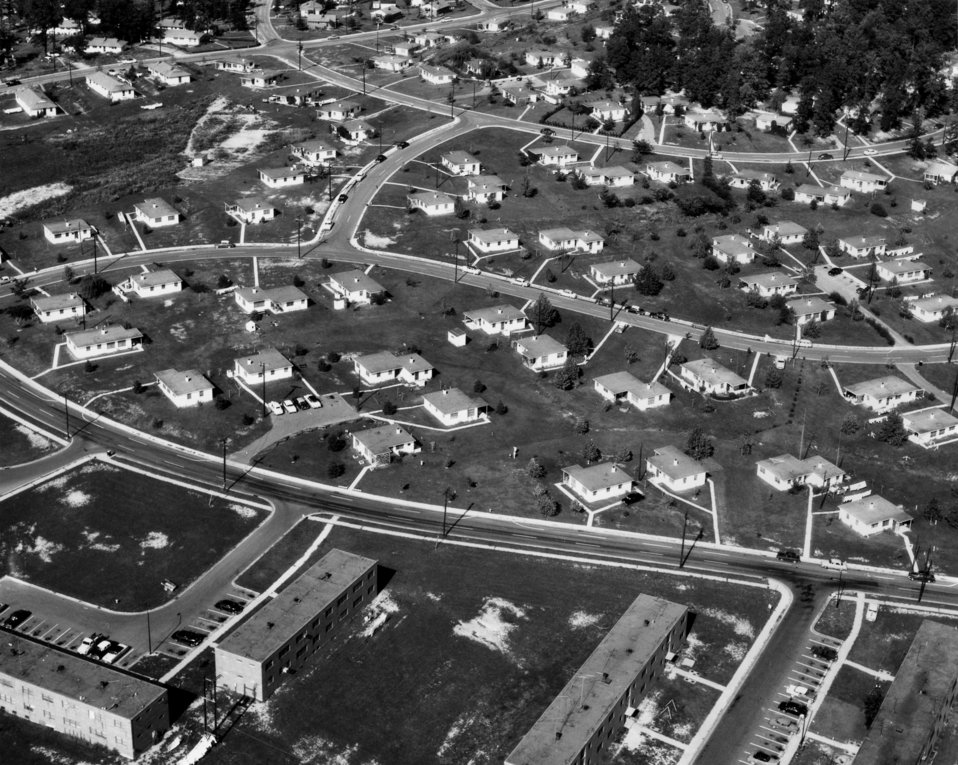 Woodland Residential Section Air View Oak Ridge 1955