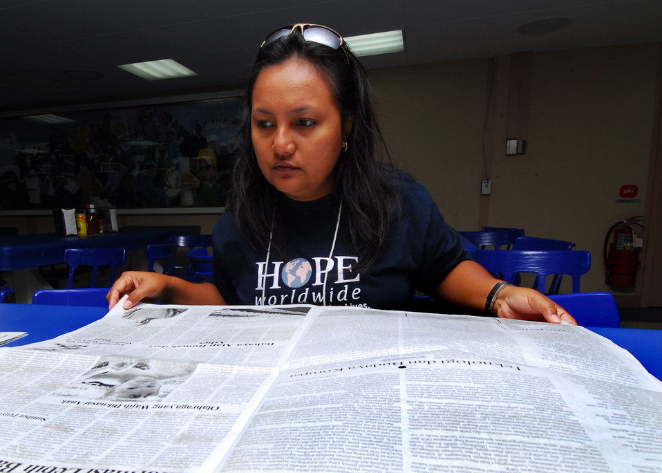 HOPE Worldwide Member Yuniwardani Translates an Indonesian Newspaper