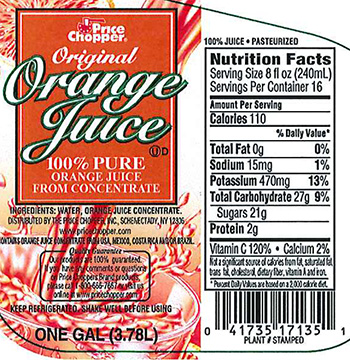 RECALLED – Orange Juice