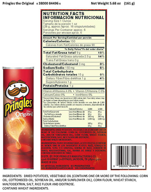 RECALLED – Original crisps