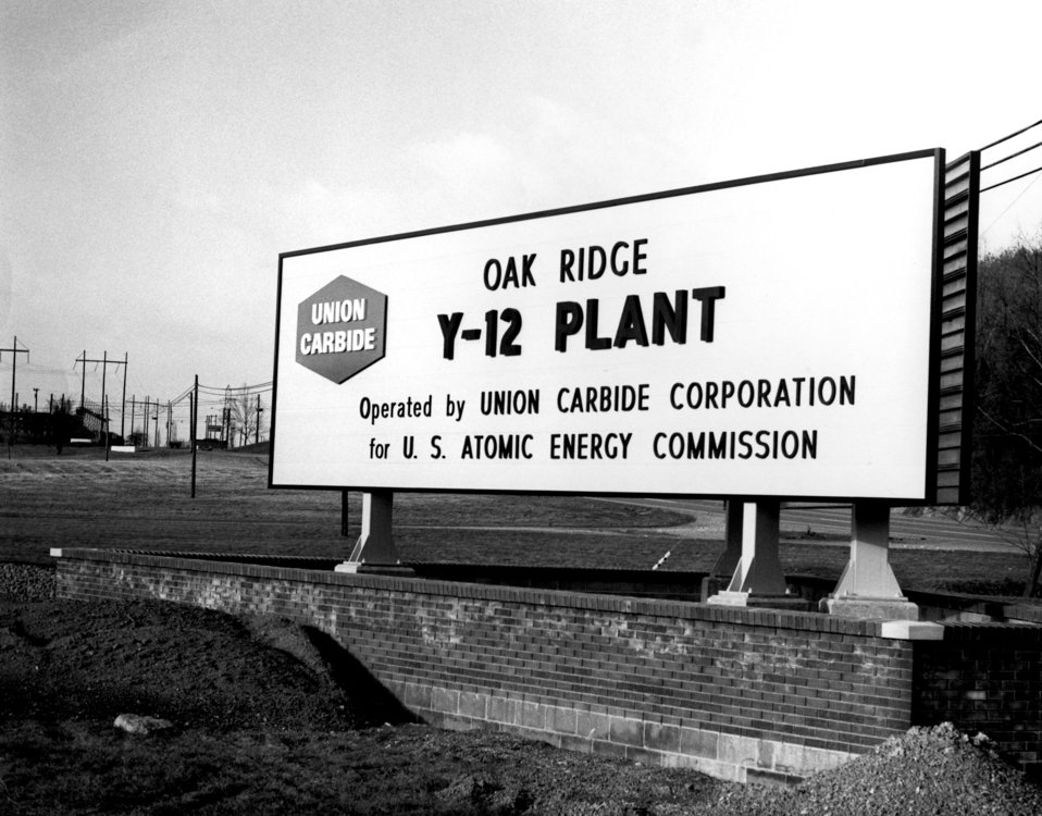 Y-12 Plant Sign Oak Ridge 1971