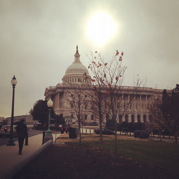 Cold December day on Capitol Hill