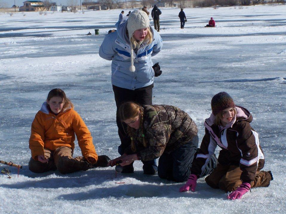 Ice Fishing at Bowdoin WMD