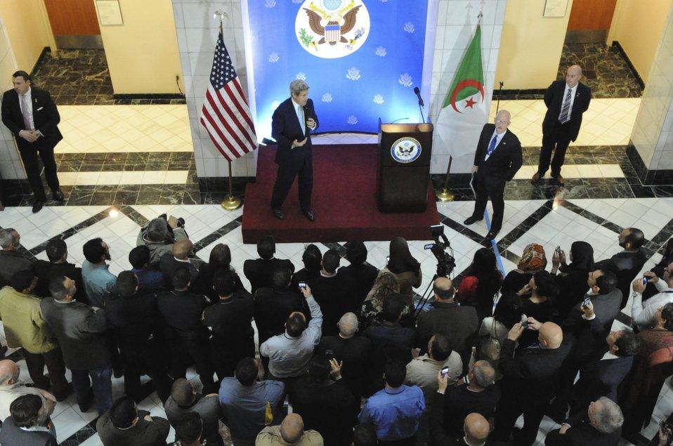 Secretary Kerry Thanks Embassy Algiers Employees