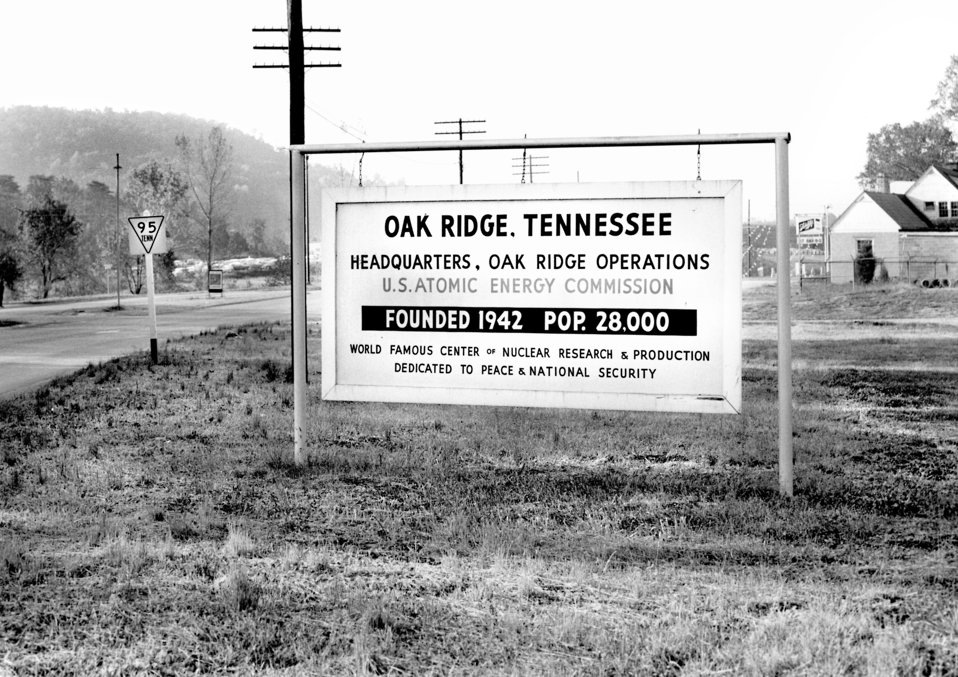 Oak Ridge City Sign Elza Gate 1960