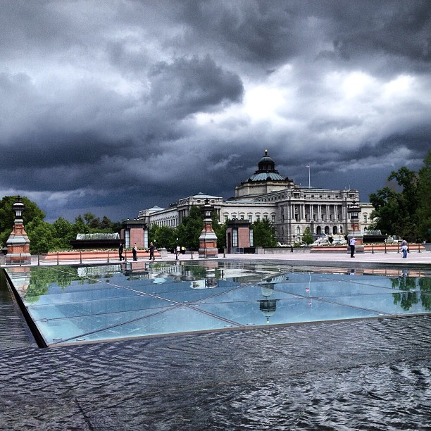 Afternoon storms rolling in on Capitol Hill.