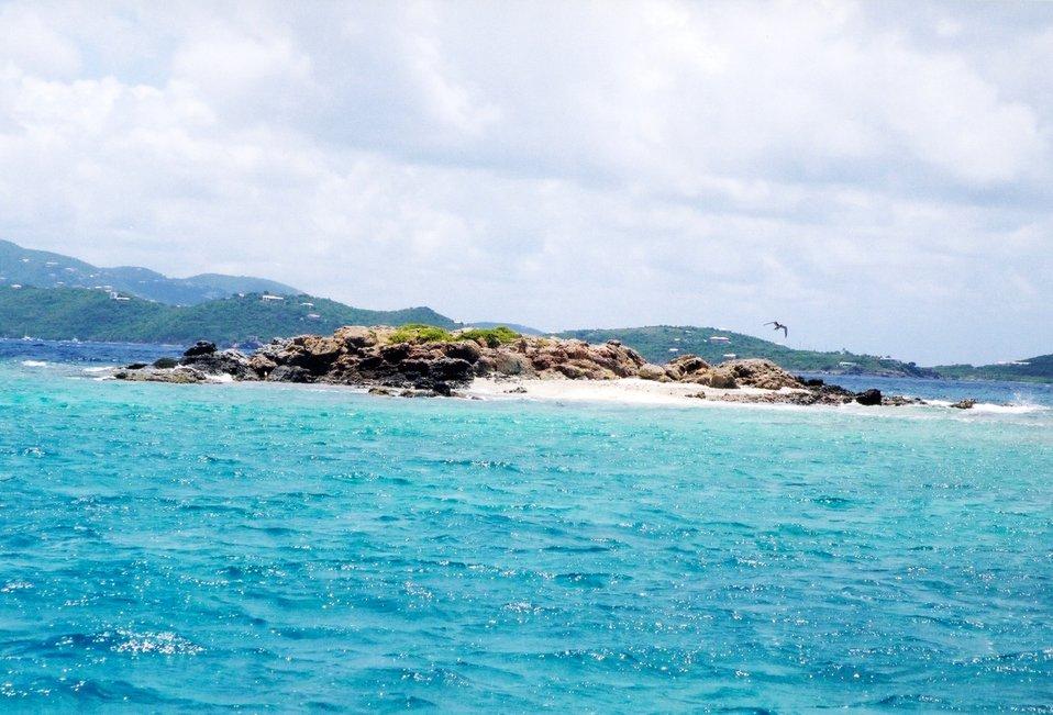 Stevens Cay, a small island in Pillsbury Sound