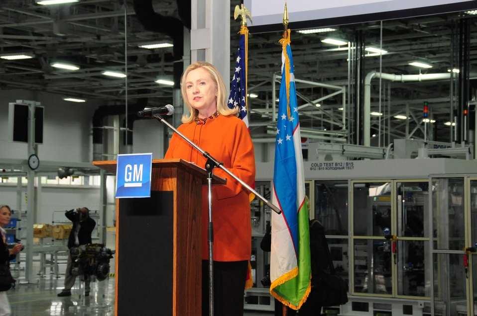 Secretary Clinton Delivers Remarks at GM Powertrain Factory