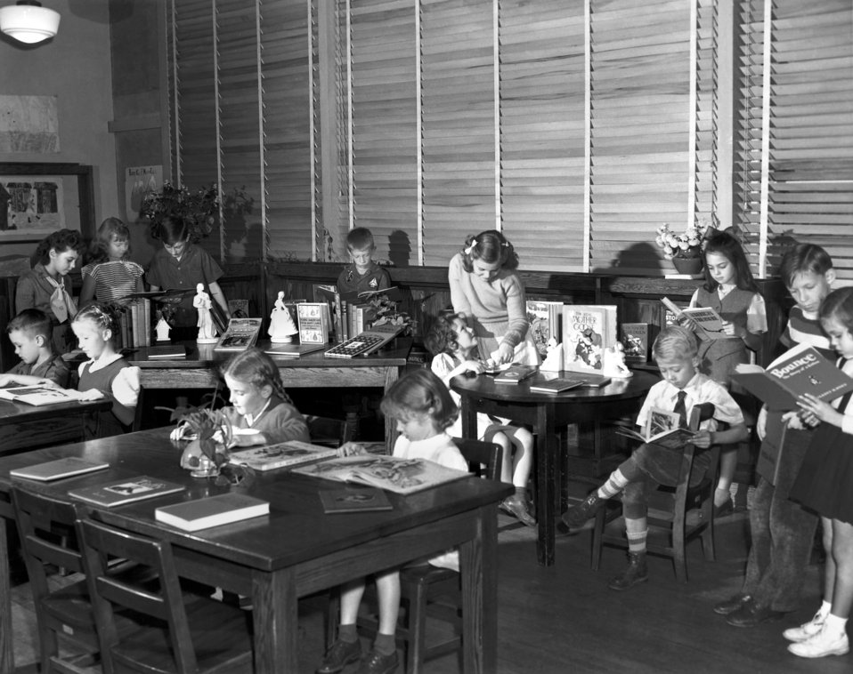 Pine Valley School Library Oak Ridge 1945