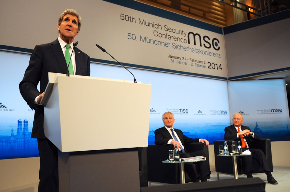 Secretary Kerry Addresses 50th Munich Security Conference