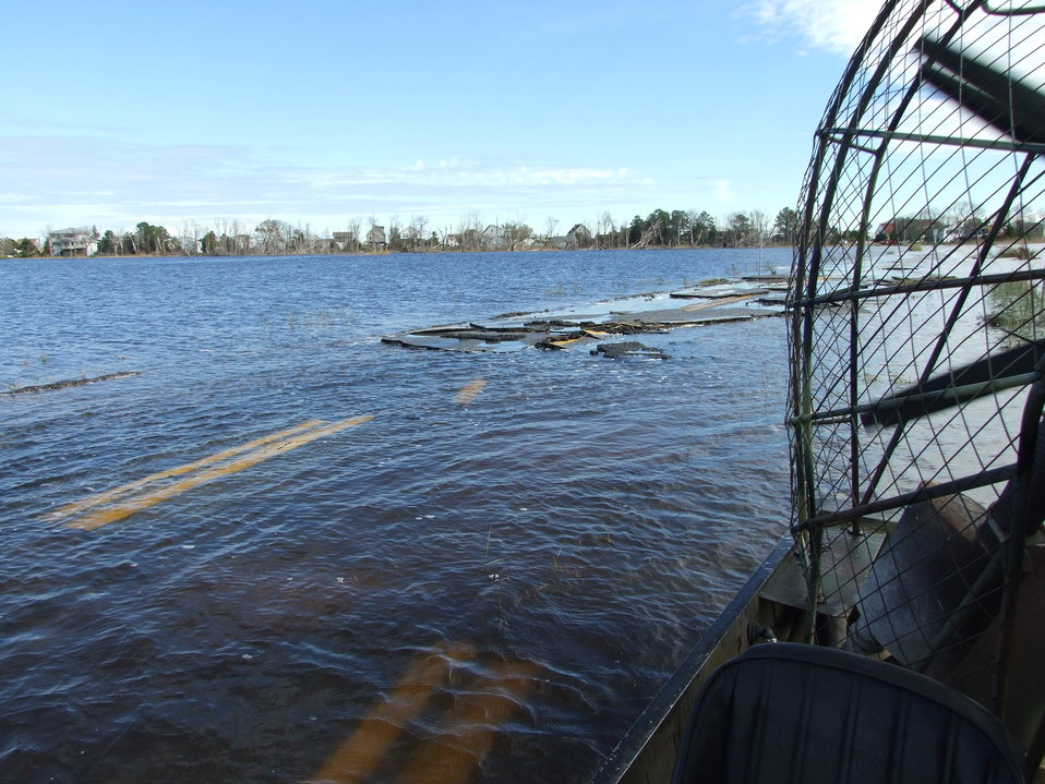 Flooding at Prime Hook National Wildlife Refuge (DE)