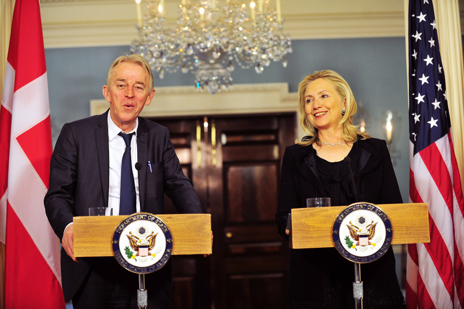 Secretary Clinton and Danish Foreign Minister Sovndal Hold a Joint Press Conference