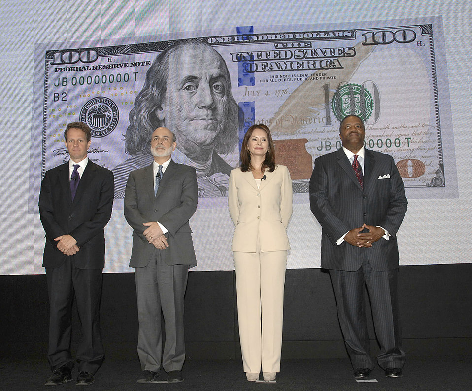 Unveiling of new $100 note, 4/21/2010