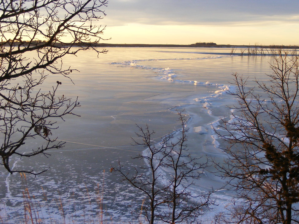 Ice Formations on Waubay Lake (Spring Lake)