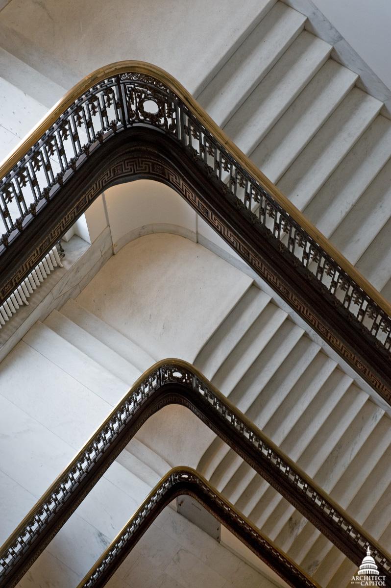 Senate Russell Building Stairway Details