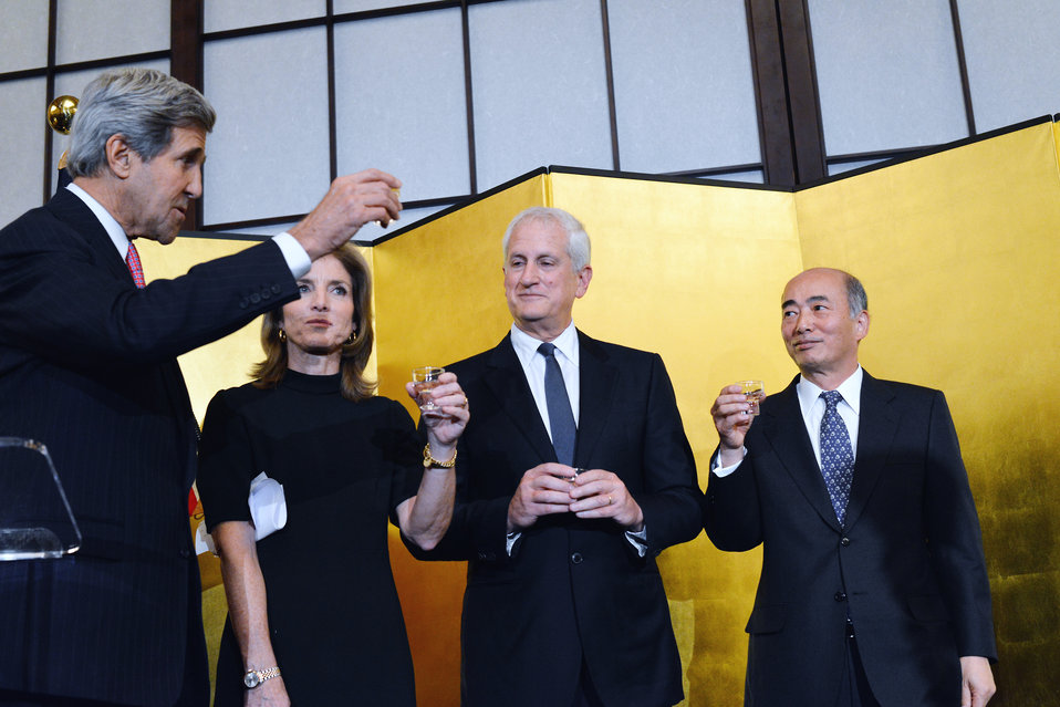 Secretary Kerry Toasts the U.S.-Japan Relationship