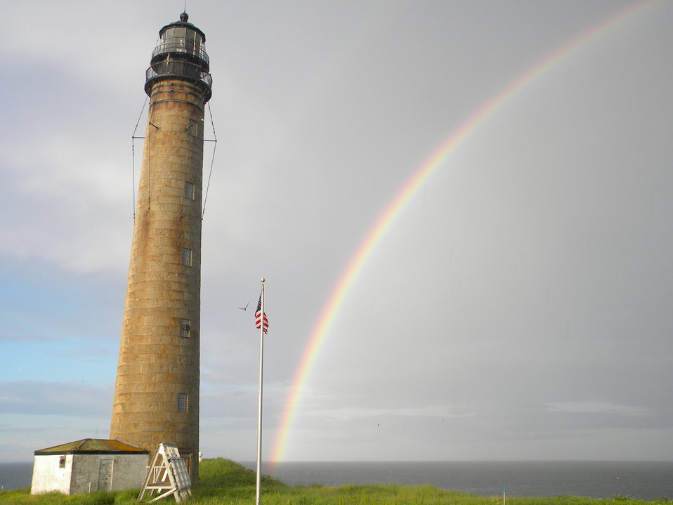Photo of the Week - Rainbow at Maine Coastal Islands National Wildlife Refuge.