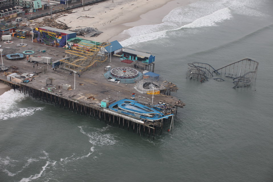 Damage to Casino Pier (NJ)